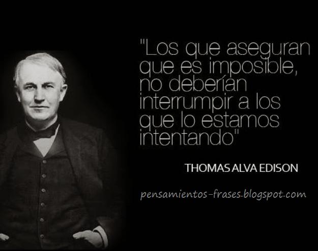 frases de Thomas Alva Edison
