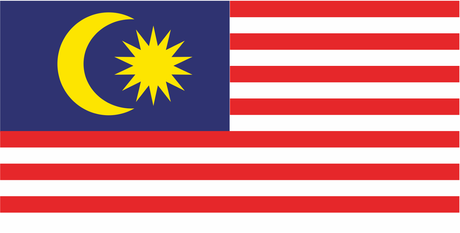 Malaysia flag Logo Vector (Country in Asia)~ Format Cdr ...