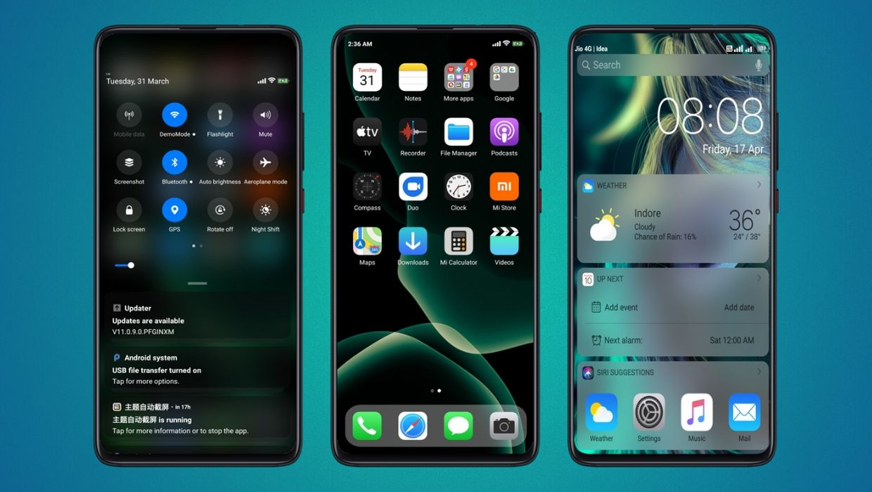 iOS 13 Dual Pro MIUI Theme