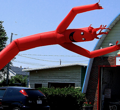 Inflatable Things Outside Car Dealerships