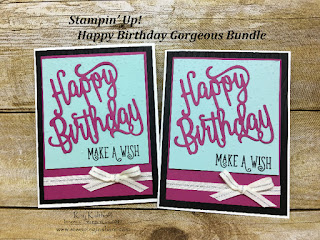 Stampin' Up! Happy Birthday Gorgeous Bundle with How To Video created by Kay Kalthoff with Stamping to Share.