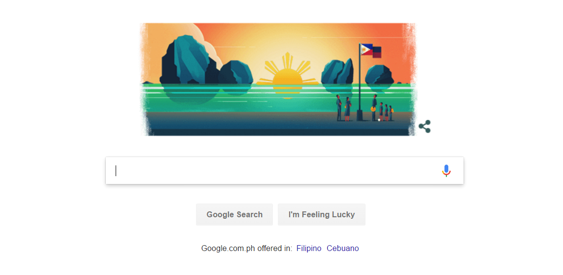 2017 Philippine Independence Day Google Doodle