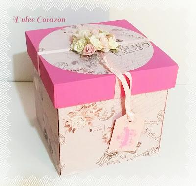 Caja sorpresa con mini pastel para un aniversario 489 for La caja sucursales horarios
