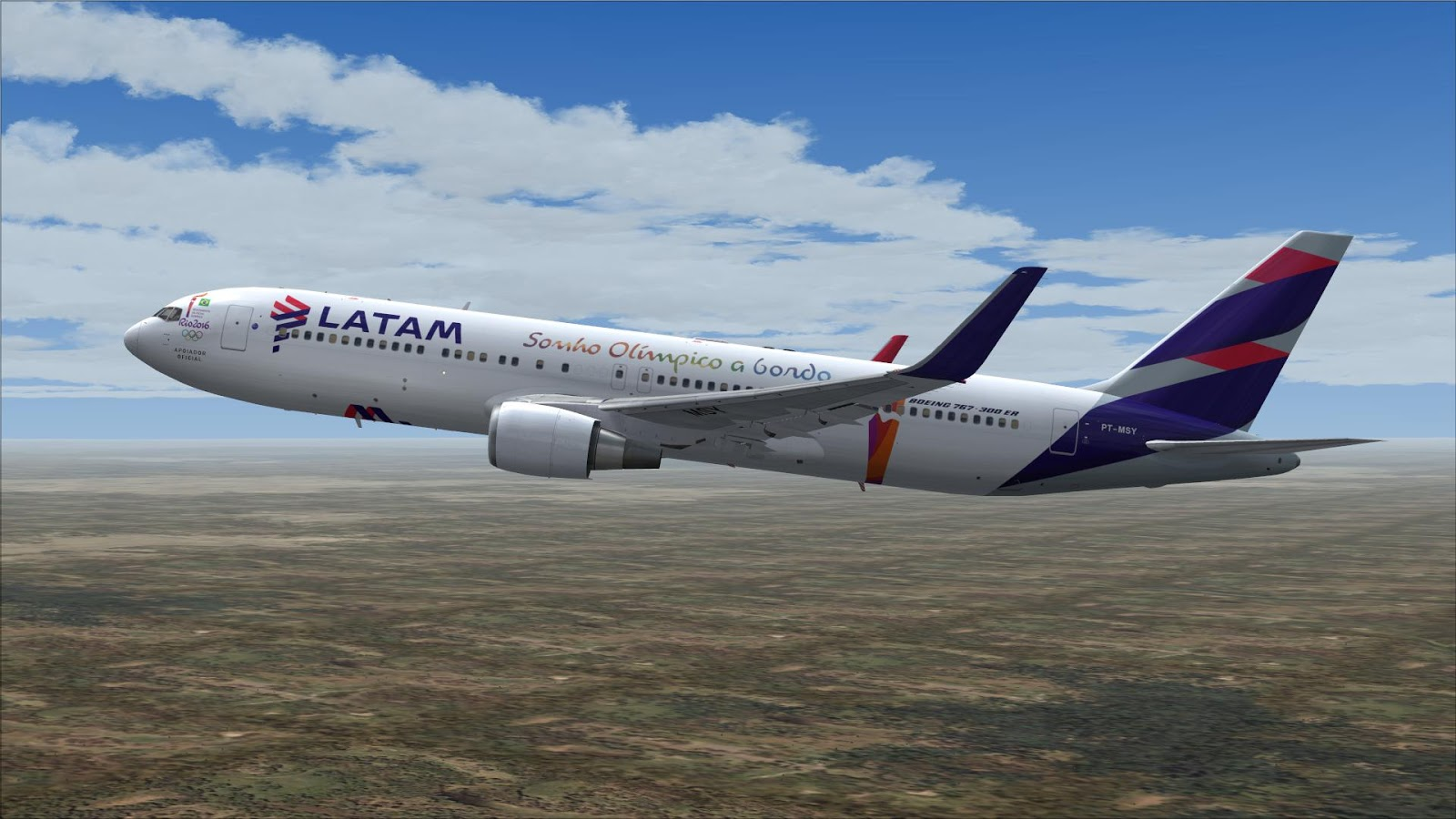 FSRepainter: SKYSPIRIT2010 767-300ER LATAM Brazil PT-MSY ...