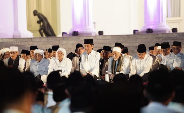 Dzikir Kebangsaan, Jokowi: Kita Teguhkan Kerja Bersama Ulama Umara