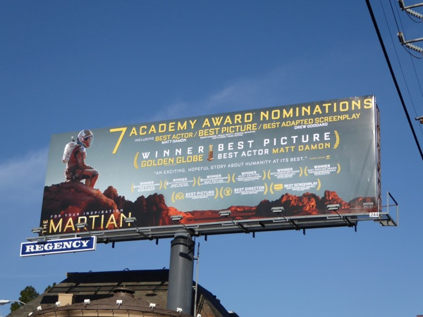 The Martian Oscar billboard