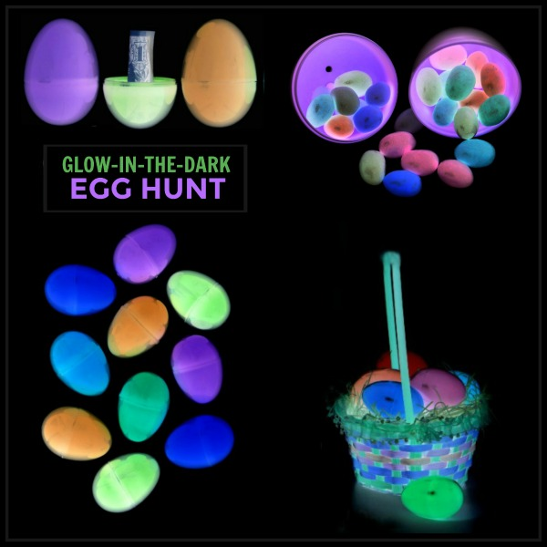 EASY GLOW-IN-THE-DARK EGG HUNT FOR KIDS #glowinthedarkeasteregghunt #easteregghuntideas #egghuntideas