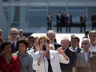 Afastada Dilma afirmou que pode ter cometido erros, mas não crime