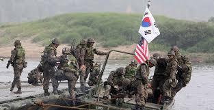 كوريا الجنوبية والولايات المتحدة الامريكية تجريان مناورات عسكرية لمواجهة تهديد كوريا الشمالية