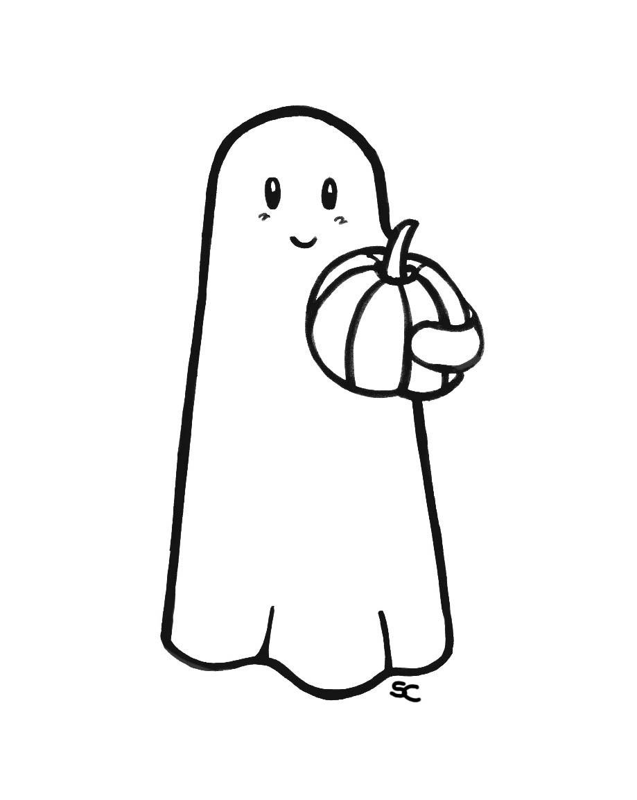 i disegni di verdemela fantasmini di halloween da