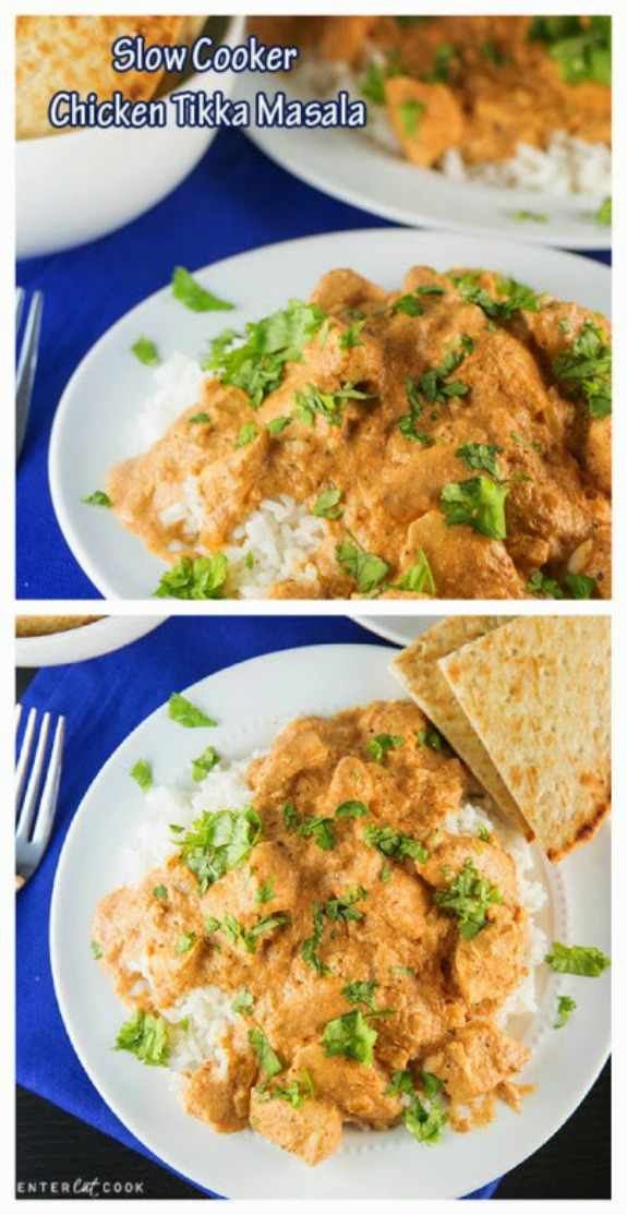 Slow Cooker Chicken Tikka Masala from Center Cut Cook found on SlowCookerFromScratch.com