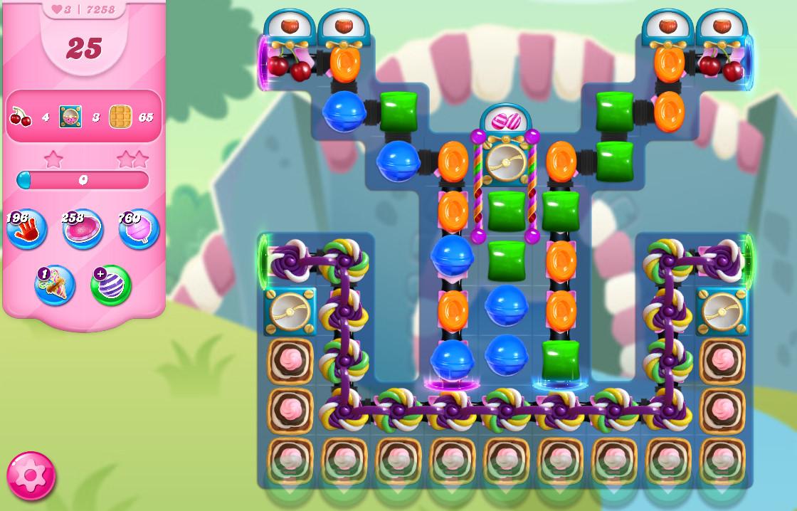 Candy Crush Saga level 7258