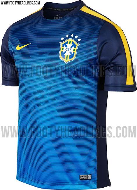 Brazil 2015 Copa America Pre-Match Kit Leaked - Footy Headlines 35e4fc6d48ff