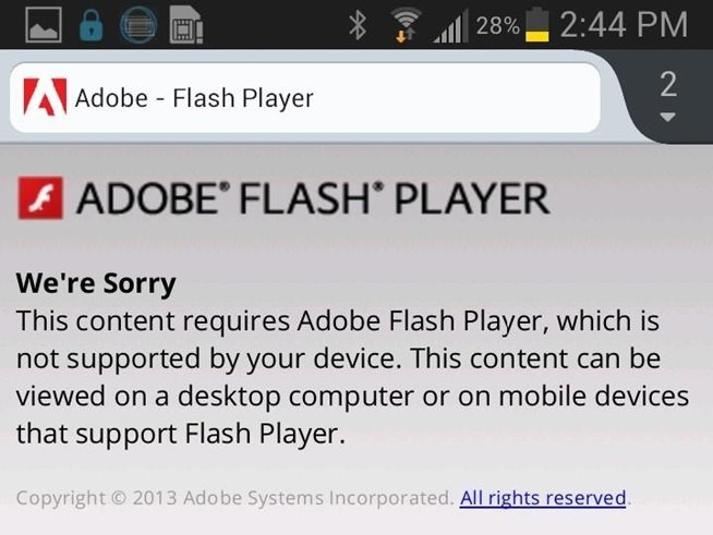 updating flash player on iphone