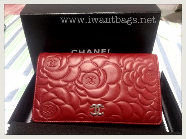 Chanel Camelia Embossed Yen Wallet