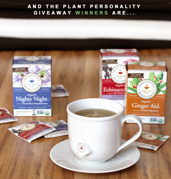 Plant Personality Custom Teas Giveaway Winners!
