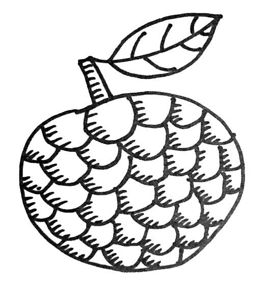 How To Draw A Custard Apple Easy For Kid Drawingsforkids Net