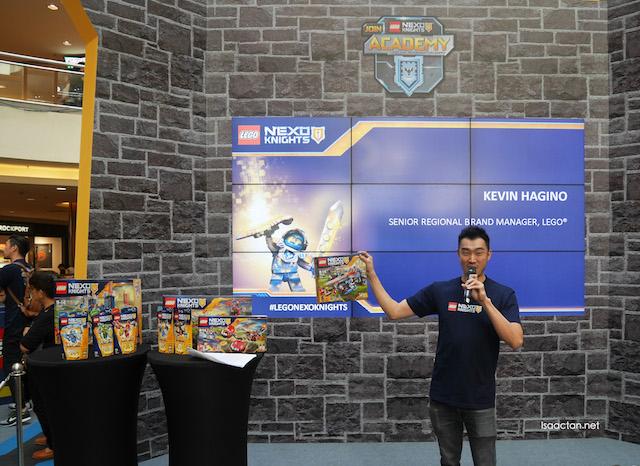 Kevin Hagino, Senior Regional Brand Manager explaining the products