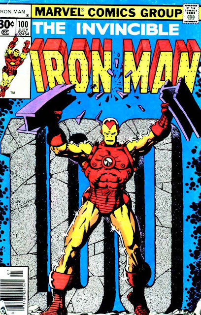 Iron Man v1 #100 marvel comic book cover art by Jim Starlin