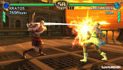 god of war character in soulcalibur psp