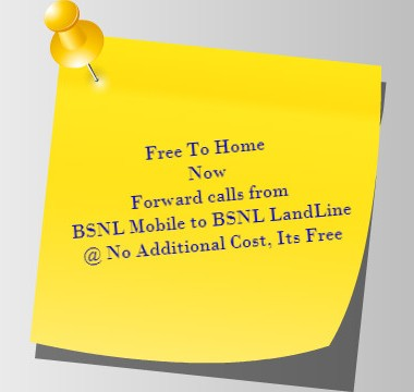 Free To Home - Free Mobile to Landline Call Forwarding Facility From