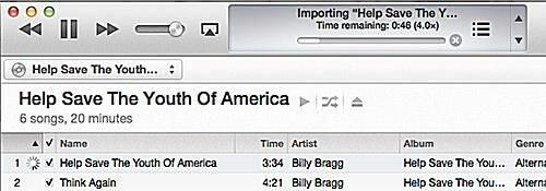 Impor CD di iTunes