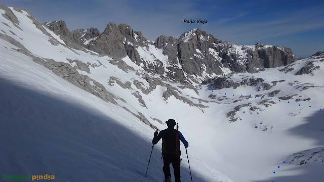 Ruta circular desde Fuente Dé a la Torre Blanca en el Macizo Central de Picos de Europa