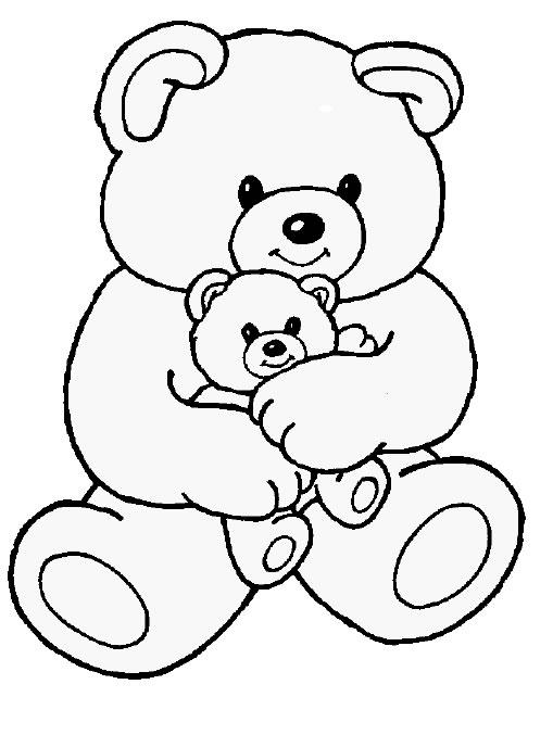 Tranh tô màu chú gấu đáng yêu, dễ thương cho các bé tập tô 11