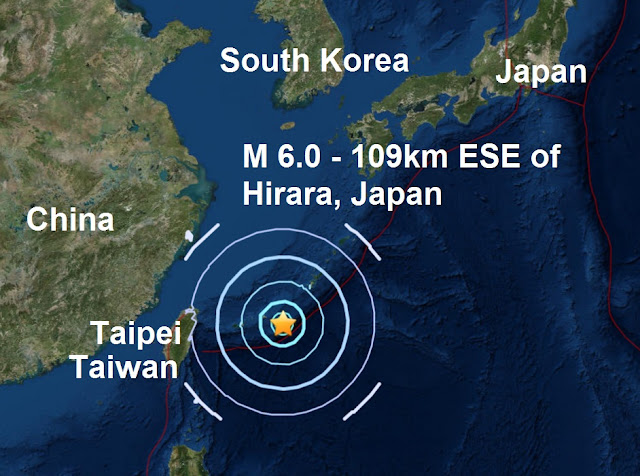 A magnitude 6.0 - 109km ESE of Hirara, Japan Untitled