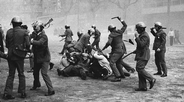 Repressione franchista Barcellona 1976