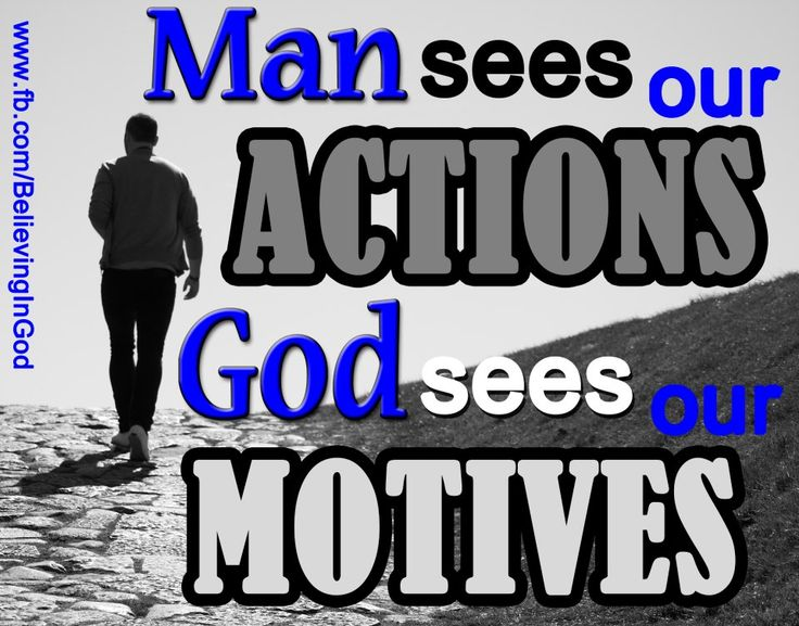 Our obedience to the will of God is measured not only by our actions but also by our inner motives.