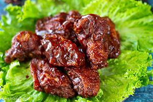 Sticky Sorrel BBQ Wings