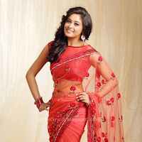 Arundhati latest cute stills in red saree