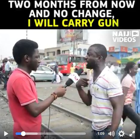 Shocker: This Man Is Ready To Join Armed Robbery If The Hardship Continues