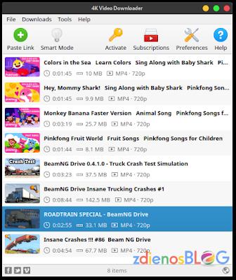 Mencoba 4K Video Downloader di Linux Manjaro