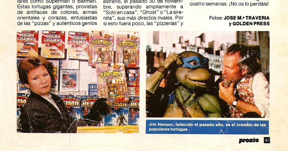 Coleccionismo 80 90 tortugas ninja noticia revista for Revista pronto primicias ya