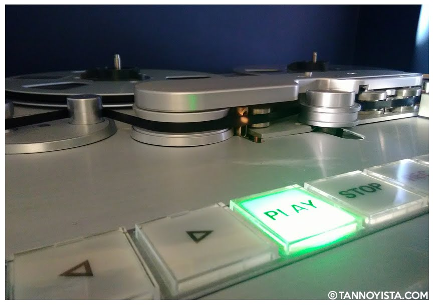 The Studer A80/R Master Tape Recorder - Control buttons with LED replacement backlights Tannoyista.com