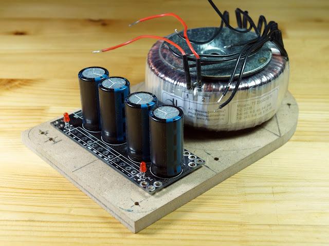 """Пробная сборка блока питания для усилителя на TDA7294 (проект """"Кристалл"""")"""
