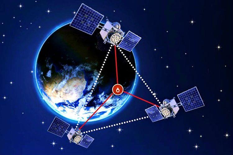 GPS haritadaki enlem ve boylam konumunu tahmin etmek için 2-B ve 3-B trilaterasyonundan faydalanır.