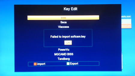 Cara Menghapus Key Biss PowerVu Tandberg di Skybox A1