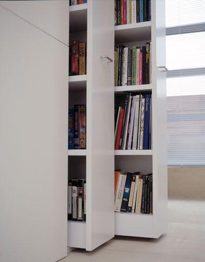 Rolling library bookshelves