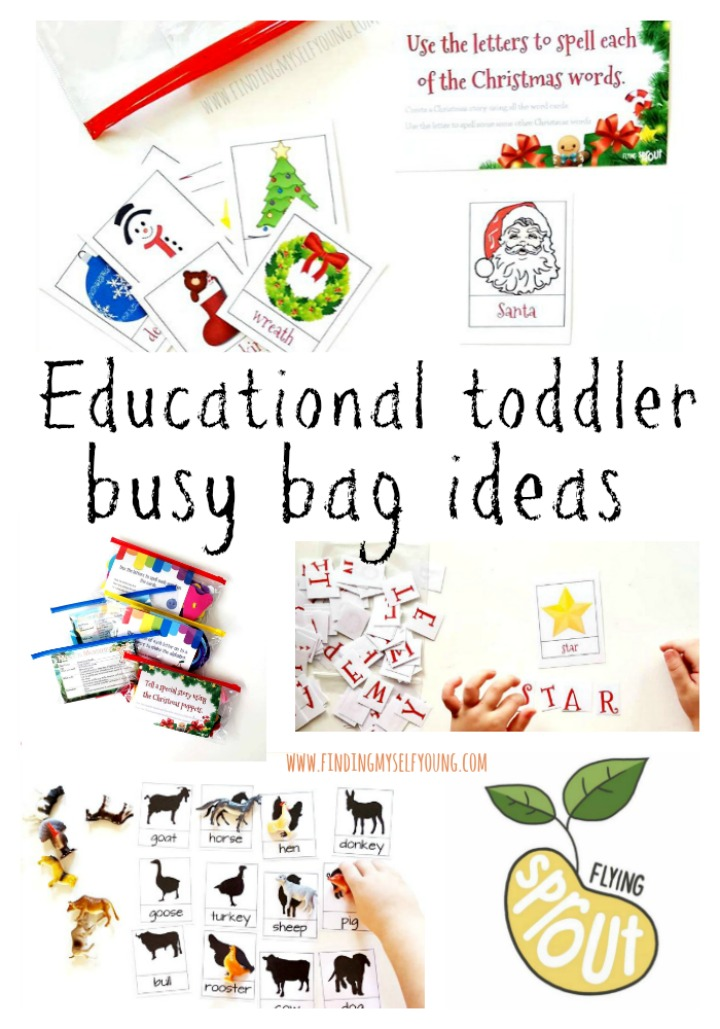 educational busy bag ideas for toddlers.