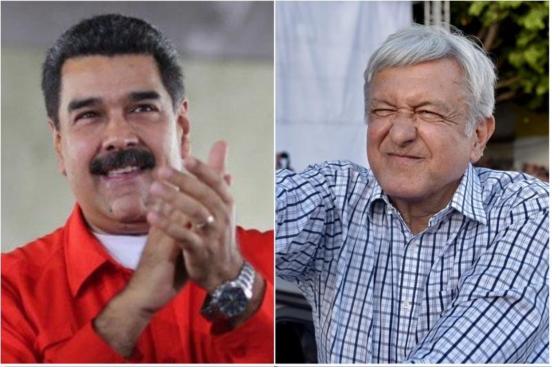 Maduro se mostró feliz porque la peste socialista llegó a México para destrozarlo todo