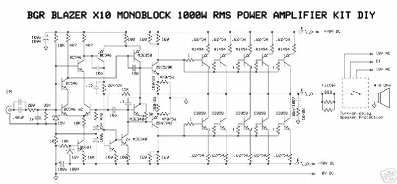 1000w audio amplifier circuit diagram - 1000w monoblock power amplifier  circuit diagram 1000w monoblock power amplifier