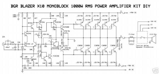 1000W Monoblock Power Amplifier
