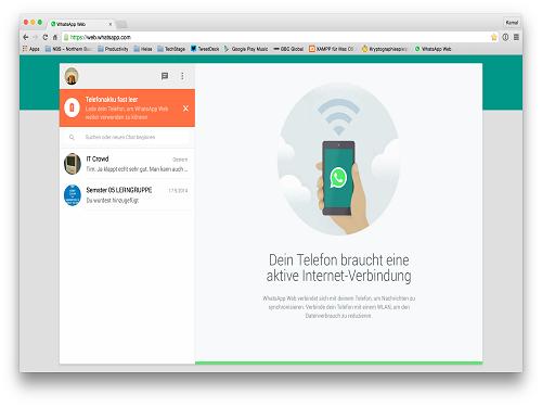 Whatsapp Web – Use Whatsapp in Google Chrome Browser