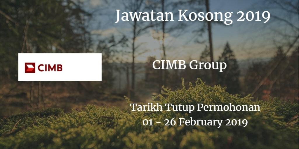 Jawatan Kosong CIMB Group 01 - 26 February 2019