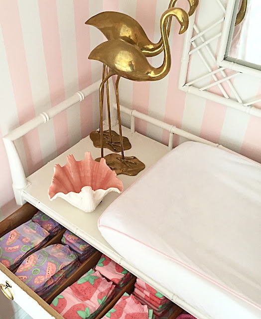 Vintage Inspired Classic Soft Pink Nursery: The Glam Pad: A Glamorous Pink And Green Nursery Inspired