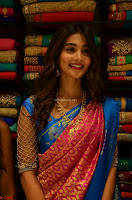 Puja Hegde looks stunning in Red saree at launch of Anutex shopping mall ~ Celebrities Galleries 056.JPG