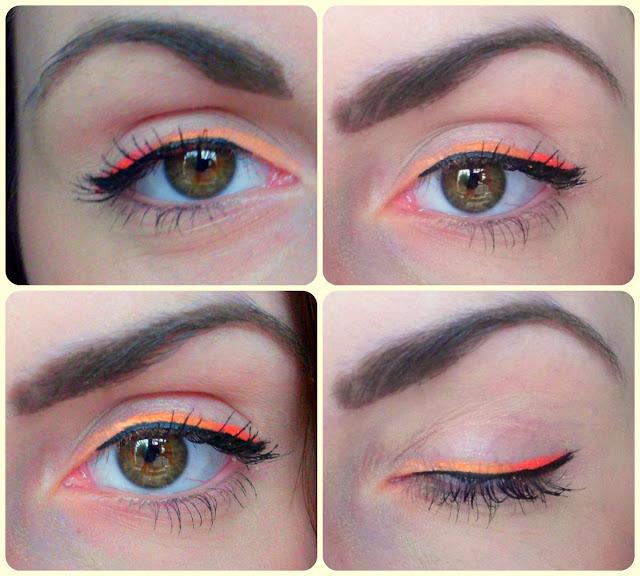 Makijaż: kolorowa kreska